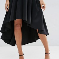 ASOS Premium Scuba High Low Prom Skirt at asos.com