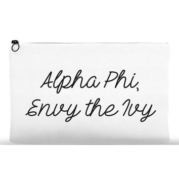 Accessory Pouch for Alpha Phi at Boston University - Black/White