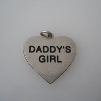 Sterling Silver 925 Daddys Girl Heart Charm Or Pendant DV 925