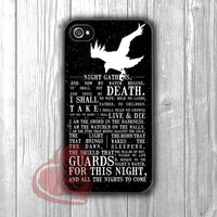 Game Of Thrones Night's Watch crow silhouette quotes -trtr for iPhone 4/4S/5/5S/5C/6/ 6+,samsung S3/S4/S5,samsung note 3/4