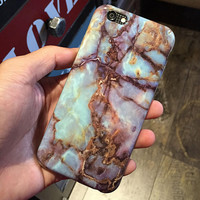 Unique Soft Marble Grain Case for iPhone