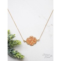 Bring a Gem in your Life Chain Necklace with Pendant-Topaz