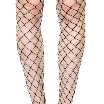 Lip Service Fence Net Tigh High Tights Black One