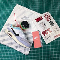 Off White X Nike Air Max 1 87 Joint White Sport Running Shoes