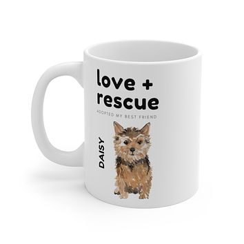 love + rescue Mug — Norfolk Terrier