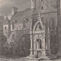 Antique Print Pinkie House Musselburgh East Lothian Scotland (A7) by Grandpa's Market