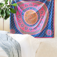Floral Medallion Wall Tapestry