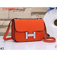 Hermes 2019 new lychee pattern female letter lock shoulder bag #2