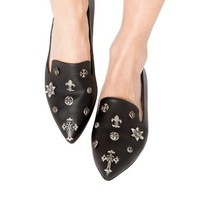 Owen Cross Pointed Loafers