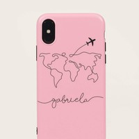 Airplane Pattern iPhone Case