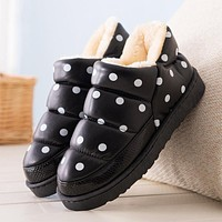 MCCKLE Women Slippers Star Dot Home Shoes Woman Indoor Warm Plush Winter Flat Female Waterproof Ladies Platform Casual Shoes