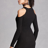 Lush Open-Shoulder Mini Dress