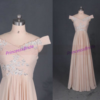 Floor length indipink chiffon prom gowns hot,unique women dresses for pageant party,discount bridesmaid dress,elegant evening gowns.