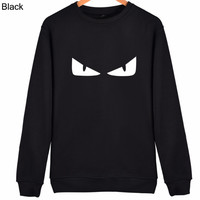 FENDI 2018 autumn and winter tide brand men and women loose round neck pullover sweater black