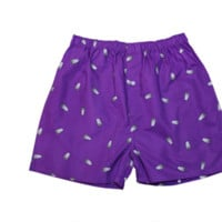 Double Cup Boxer Shorts in Purple