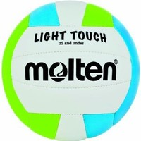 Molten Light Touch Volleyball (Green/Blue/White, 12 and Under/8.1-Ounce)