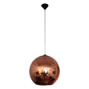 Pre-owned Tom Dixon Large Copper Shade Pendant