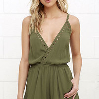 Second Look Olive Green Romper