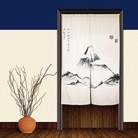 "Japanese Noren Doorway Curtain Tapestry 33.5"" Width x 47.2"" Long, Fuji Mountain"