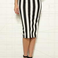 Sparkle & Fade Stripe Hobble Skirt at Urban Outfitters