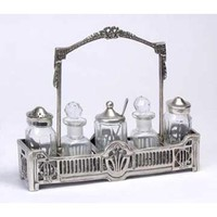 A. A. Importing 51725 Antique Silver Condiment Set