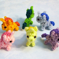 One Itty Bitty Baby Unicorn Plushie - Choose your colors