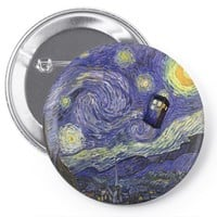 tardis starry night Pin-back button