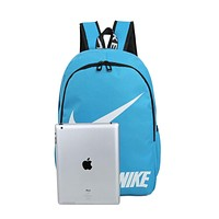 Nike Fashion Letters Sports Backpack 6 Color Sapphire Light Blue