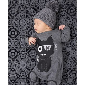 New 2016 fashion baby boy clothes long sleeve baby rompers newborn cotton baby girl clothing jumpsuit infant clothing