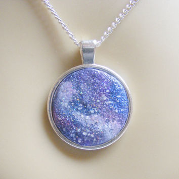 Galaxy Pendant, Hidden Message Pendant, Galaxy Necklace Marry Me Jewelry Star Sign Necklace Message Jewelry Outer Space Necklace Birth Sign