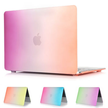 Hard Case Protector With Rainbow Style For MacBook 12 inch Air 11 13 inch Pro 13 15 inch Pro retina 13 15 inch