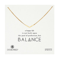Dogeared Balance Medium V Necklace Gold Dipped - Zappos.com Free Shipping BOTH Ways