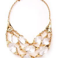Large 3-Strand Texture Necklace - Alexis Bittar - Clear (LARGE )