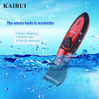 Kairui Fashion Full Waterproof Rechargeable Hair Clipper Trimmer Shaver Razor Cordless Adjustable Clipper Haircut for Men Baby