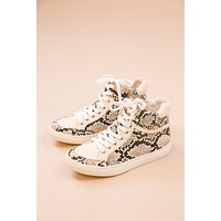 Pixie High Top Sneaker, Natural Snake | Coconuts by Matisse