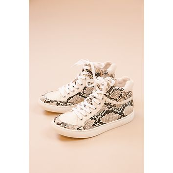 Pixie High Top Sneaker, Natural Snake   Coconuts by Matisse