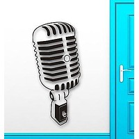 Wall Stickers Vinyl Decal Leading Music Sing Microphone Coolest Decor Unique Gift (ig1498)