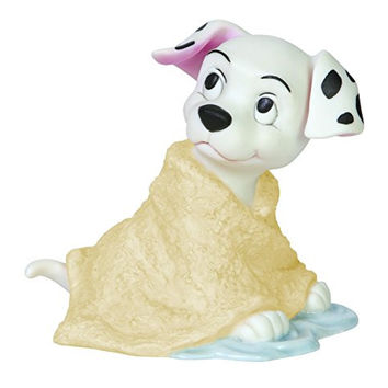 Precious Moments Disney Baby Dalmatians Wrapped in Towel Figurine