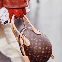Inseva LV Louis Vuitton Trending Women Leather Dinosaur Egg Handbag Tote Shoulder Bag Crossbody Satchel