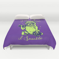 I Don't Sweat I Sparkle Duvet Cover by Huebucket