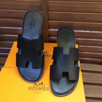 Black HERMES Fashion Women Sandal Slipper Shoes