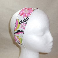 Gorgeous Pink Floral Fabric Headband