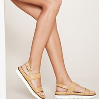 Faux Leather Flatform Sandals | Forever 21 - 2000153664