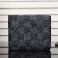 Louis Vuitton LV Man Leather Tartan Purse Wallet