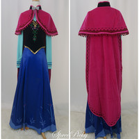 【Frozen】Cosplay Princess Anna Fabulous Gown Full Set Pre-order Free Ship SP140778