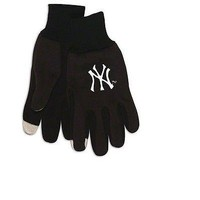NEW YORK YANKEES ADULT TECHNOLOGY GLOVES NEW & OFFICIALLY LICENSED