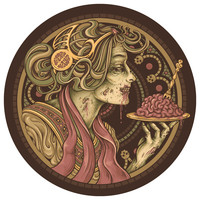 Enkel Dika's Bon Apetit Circle Decal
