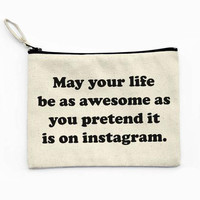 Instawesome Canvas Pouch