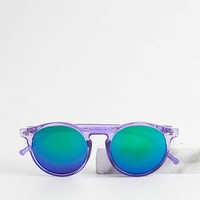 Aqua Contrast Frame Star Detail Mirrored Cat Eye Sunglasses - Choies.com