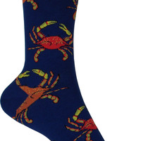 Crabs Crew Socks in Navy